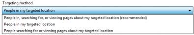 Lokacijsko ciljanje u AdWords Editoru